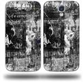 Graffiti Grunge Skull - Decal Style Skin (fits Samsung Galaxy S IV S4)