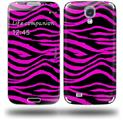 Pink Zebra - Decal Style Skin (fits Samsung Galaxy S IV S4)